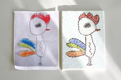Children's Drawings in a Mosaic Art  Made by LoveMosaicHomeDecor, $100.00
