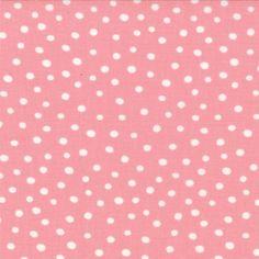 ABC Menagerie - Bubble Dots in BubbleGum // Moda Fabrics at Juberry Shops, Kawaii, Bubble Gum, Bubbles, Material, Fabrics, Pink, Patterns, Cotton