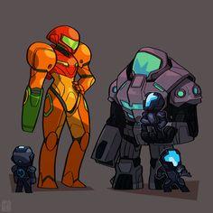metroid federation force concept art - Google zoeken