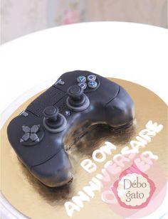 Gâteaux personnalisés, Paris, Passion, Gourmandise, Anniversaire, Gâteau d'anniversaire, Cake design Paris, Birthday cake, Jeux Vidéos, Video games, Playstation, PS2, PS3, Manette