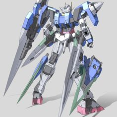 GN-0000/7S 00 Gundam Seven Sword (aka 00 Gundam Seven Sword, 00 Seven Sword), is a weapons pack/equipment variation for the GN-0000 00 Gundam that appeared in the Mobile Suit Gundam 00V side story. It is later given an eighth sword and re-designated as GN-0000GNHW/7SG 00 Gundam Seven Sword/G. Back