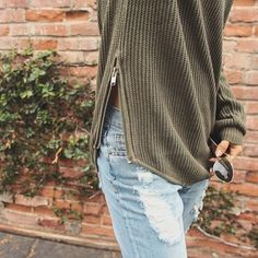 UNIF X UO Waffle-Knit Tunic Sweater - Urban Outfitters