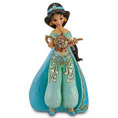 A secret wish is granted when you place this beautifully detailed Disney Princess Sonata Collection Jasmine Figurine by Jim Shore on the universal Musical Base (sold separately) to hear her corresponding tune activated, as if by Magic! Arte Disney, Disney Magic, Disney Art, Disney Pixar, Disney Princess Jasmine, Aladdin And Jasmine, Disney Figurines, Disney Statues, Disney Love