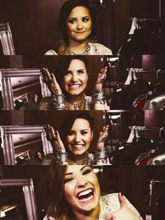 Demi Lovato when she smiles it automatically makes me smile