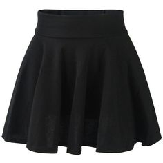 FUNOC Women's High Waist Plain Pleated Flared Mini Skater ($5.88) ❤ liked on Polyvore featuring skirts, mini skirts, bottoms, saias, pants, flare skirt, skater skirt, high-waist skirt, high rise skirts and high waisted flare skirt