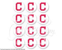 """MLB Cleveland Indians PhotoCake® Edible Cake Image, 2"""" Images (sku: 8909)"""