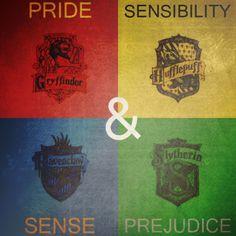 Pride & Prejudice, Sense & Sensibility, AND Harry Potter. <3
