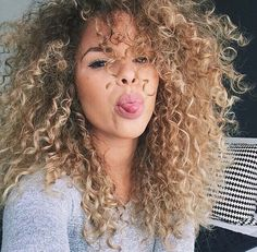 I want my hair this long and this blonde. I hv the curls already