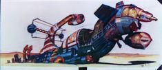 Chris Foss concept art for the Derelict, from 1979's Alien