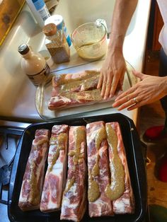 This is my step-by-step picture tutorial on how to smoke bacon without nitrates. You don't need to raise and slaughter your own pigs to make your own nitrate-free bacon. You could just buy naturally raised, organic pork belly and make bacon yourself, at a fraction of the cost of buying the stuff in the store.