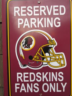 Redskins Baby, Redskins Football, Redskins Gear, Reserved Parking Signs, But Football, Football Season, Nfl Gear, Nfl Sports, Sports Pics