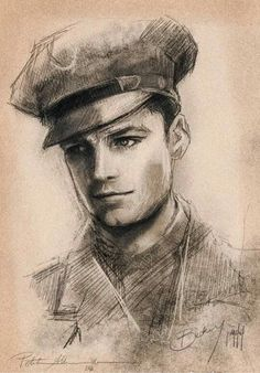 Katie's drawing of Bucky (I did not do this. If you know the artist, please comment so I can credit!)