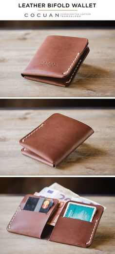 Acrylic Long Wallet Leather Template Diy Leathercraft tool Leather Inspiration Of Diy Leather Wallet Leather Wallet Pattern, Handmade Leather Wallet, Leather Gifts, Leather Bifold Wallet, Diy Wallet Mens, Crea Cuir, Handmade Wallets, Leather Art, Leather Projects
