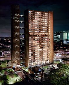 An article about East London brutalist buildings, with a particular focus on Balfron Tower and its neighbouring Robin Hood Gardens London Architecture, Architecture Design, Bow Art, Tower Hamlets, Tower Block, Multiple Exposure, Social Housing, Tower Of London, Palace London