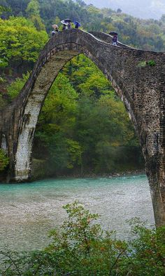 The historical bridge of Plaka - Arta, Epirus, Greece