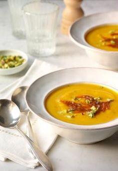 Butternut Squash Soup with Pumpkin Butter / Ben Fink Photography, Inc.