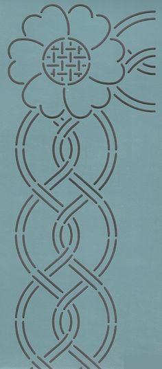 """Cable Border & Corner 4"""" - The Stencil Company"""