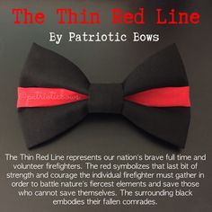 The Thin Red Line Bow by PatrioticBows on Etsy https://www.etsy.com/listing/236655295/the-thin-red-line-bow