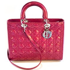 f0ad7444f21d Lady Dior Red Patent Leather Quilted Large Bag Lady Dior, Christian Dior  Bags, Clean