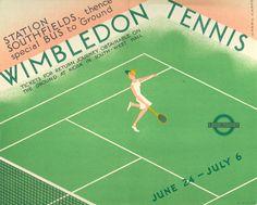 Wimbledon Tennis London Underground Railway Poster Print 8 x 10 Wimbledon Tennis, Wimbledon Tickets, Tennis Posters, London Transport Museum, Public Transport, London Poster, Vintage Tennis, Retro Poster, Railway Posters