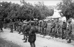 The Germans enter the village of Kondomari and begin ordering all villagers to assemble
