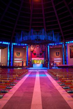 Liverpool Metropolitan Cathedral (1962-67); designed by Sir Fredrick Gibbered.
