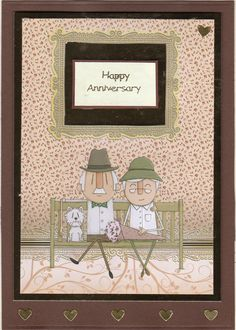 Hunkydory little book topper for Anniversary