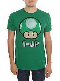Nintendo Super Mario Bros. 1-Up Mushroom T-Shirt