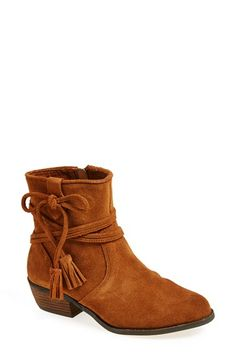Free shipping and returns on Minnetonka 'Mesa' Boot at Nordstrom.com. Soft suede shapes a Western-style boot with tassel detailing and a chunky stacked heel.