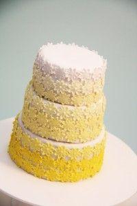 Ombre Daisy Cake by Bronnie Bakes Daisy Wedding Cakes, Daisy Cakes, Fondant Cakes, Cupcake Cakes, Cupcakes, Daisy Party, Ombre Cake, Cake Photography, Cake Cover