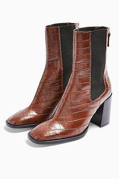 Bottines Femmes En Cuir Synthétique Pour Femme Talon Bloc Fermeture Éclair Texturé Chaussures Taille