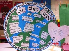 "Celebrate Earth Hour by making a ""Our Class Cares"" poster!"