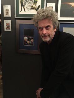 Peter Capaldi at the Cartoon Museum...