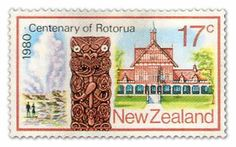1980 Centenary of Rotorua Stamp