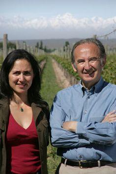 Nicolás Catena and his daughter Laura of Catena Zapata in Mendoza.