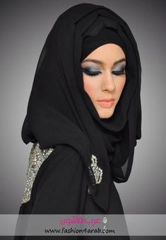 Veil Dress term and cover the head or face of the woman, his importance in some people, especially religious ones, as are some women wearing it to perform and respect Arab Fashion, Islamic Fashion, Muslim Fashion, Arabian Makeup, Black Hijab, Bridal Makeup Looks, Wedding Makeup, Arab Girls, Hijab Chic