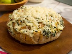 Artichoke-Spinach Dip Bread recipe from The Kitchen via Food Network