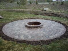 paver stone patio with fire pit, this might work for off of our ... - Outdoor Fire Pit Patio Ideas