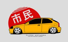 Flvshartwork is an independent artist creating amazing designs for great products such as t-shirts, stickers, posters, and phone cases. Tuner Cars, Jdm Cars, Need For Speed Cars, Honda Civic Sport, Estilo Cholo, Civic Eg, Jdm Wallpaper, Civic Hatchback, Car Vector