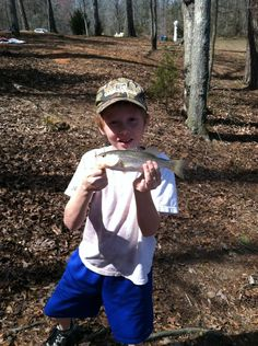 Wyatt's first fish tis year.. Loving the awesome weather we are having!!!!