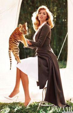 kate upton baby animals. Kate Upton Holds Baby Animals For Carine Roitfeld's Bazaar Shoot