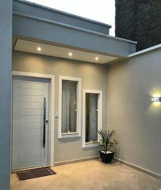 Minimal House Design, Modern Small House Design, House Front Design, Minimal Home, Modern House Plans, Home Building Design, Home Room Design, House Construction Plan, House Extension Design
