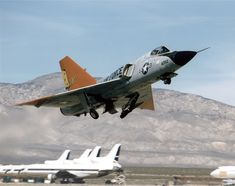 USAF QF-106 Taking Off