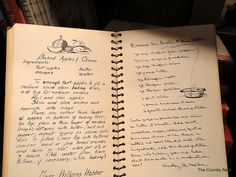 love the look of this old handwritten cookbook