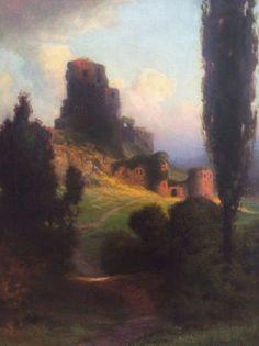 "Cypress Ruins at Sunset : R. Atkinson Fox : Fine Art Giclee 11x17""cs #VintageCommercialArt"
