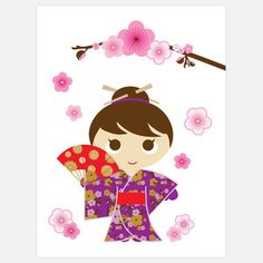 Cherry Blossom Card Set now featured on Fab.