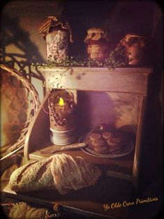 ... bread, fake cookies a shoe fly cover and a candle. By: Ye Olde Crow