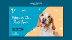 Dog Template, Banner Template, Organic Dog Food, Food Banner, Dog Branding, Web Banner Design, Social Media Banner, Food Themes, Food Design
