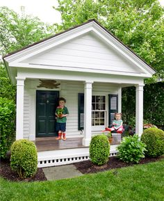 Forget the kids...can this playhouse be my house? Too cute!