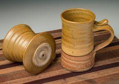 Drip coffee maker handmade pottery green coffee cone